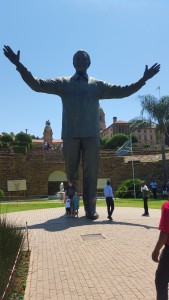 David, Kids at Madiba Statue in front of Union Buildings, before being admitted.